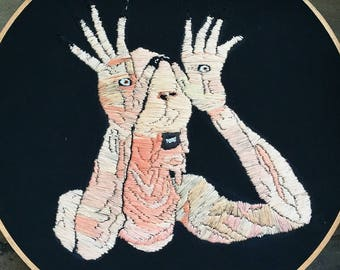 Pan's Labyrinth Monster embroidery 10 inch hoop art