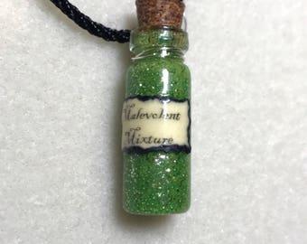 Mini Malevolent Mixture potion bottle pendant