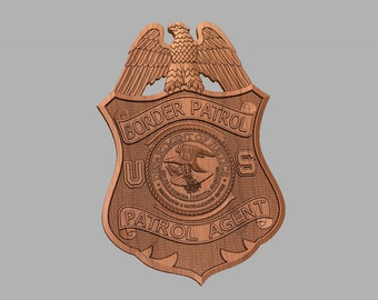 Border patrol badge   Etsy