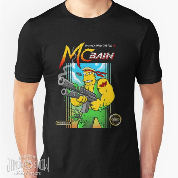 a0eebb42e4 McBain T-shirt inspired by The Simpsons and classic retro | Etsy