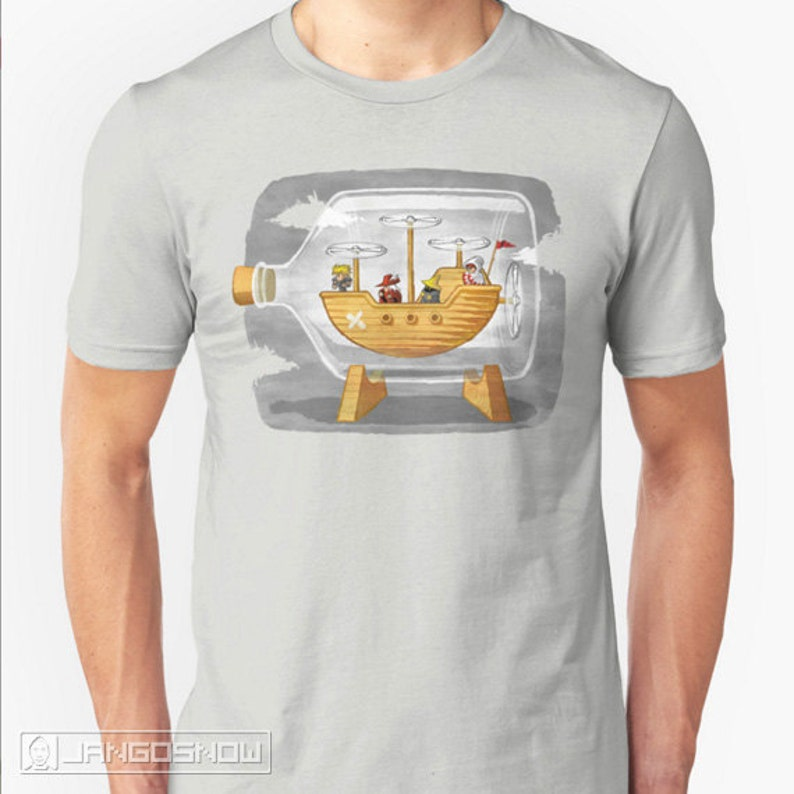 Airship in a Bottle - Final Fantasy tee