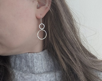 Elegant HOOP drop earrings