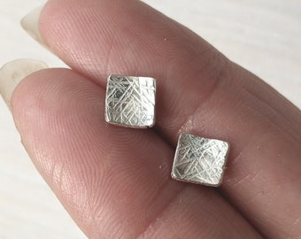 NEW- Square Shimmer Studs