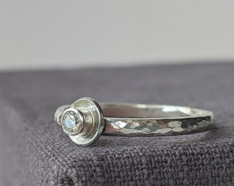 Sterling Solitaire Ring