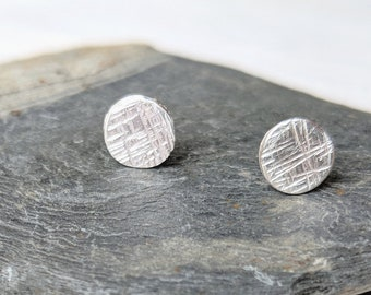 Small Round Shimmer Studs