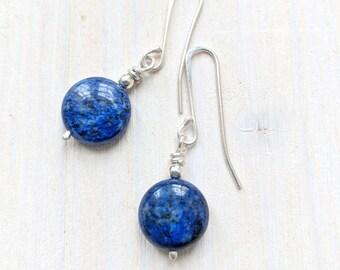 Silver & Lapis earrings