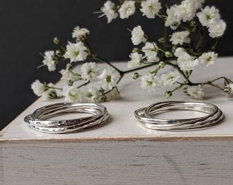 Silver INTERLOCKING ring