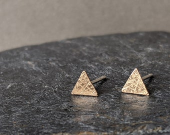 NEW- Gold Shimmer Triangle Studs