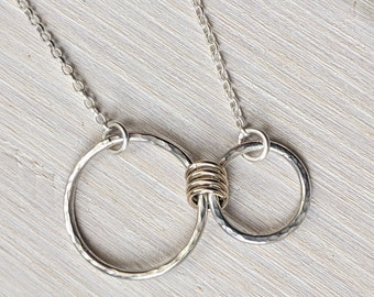 'Special Connection' Necklace - Silver & Gold