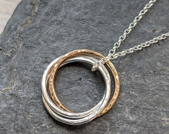 Gold & Silver 'Connected' Hoop Necklace