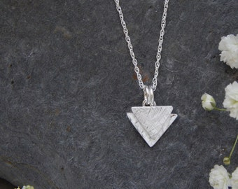 Silver TRIANGLE necklace - from the Trinity Collection - eco silver - recycled sterling silver geometric minimalist necklace