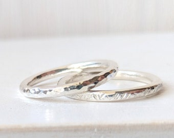 Silver Skinny Band Ring
