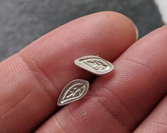 Silver LEAF Studs