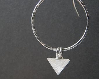 Hoop & Triangle earrings