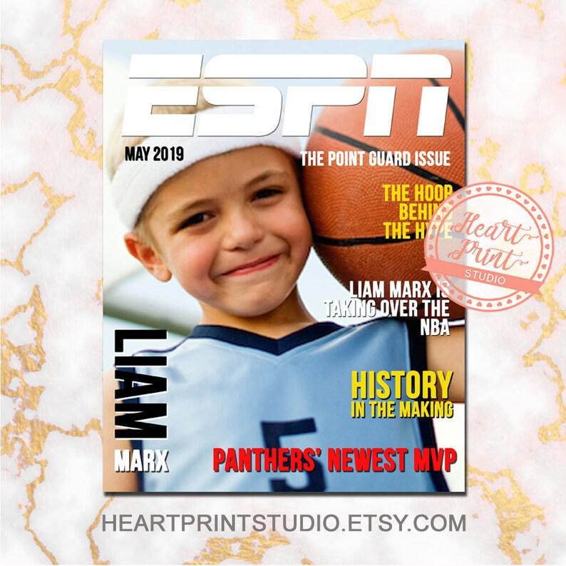 44dcd222cbf Magazine Cover Custom ESPN Sports Personalized Birthday