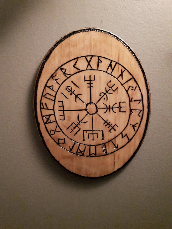 Wood Burning Viking Symbols Pyrography