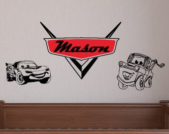 Cars Wall Decal Etsy