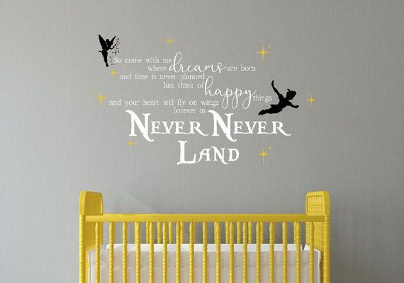 Neverland Wand Aufkleber Peter Pan Wandtattoo Abnehmbare Etsy
