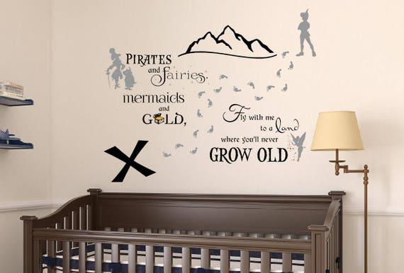 tinkerbell wand wandtattoo aufkleber neverland wandtattoo. Black Bedroom Furniture Sets. Home Design Ideas