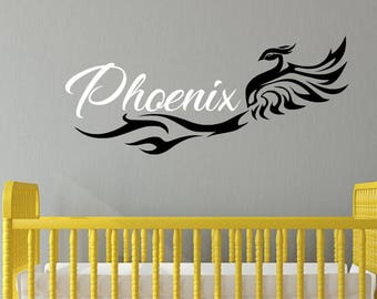 Phoenix Wall Decal - Name Wall Decal