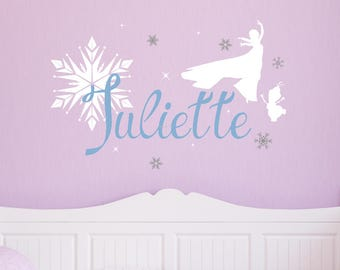 Frozen Wall Decal - Disney Wall Decal - Girl Name Wall Decal