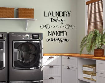 Laundry Room Wall Decal - Home Decor Wall Decal