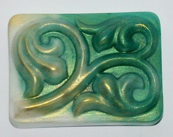 "Designer soap ""fantasies in green"""