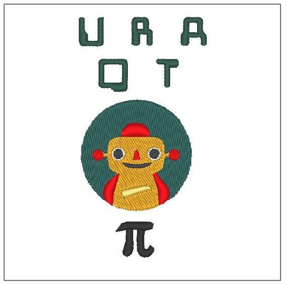 Robot URAQTpi diseño niños bordado patrón 4 pulgadas descargar | Etsy