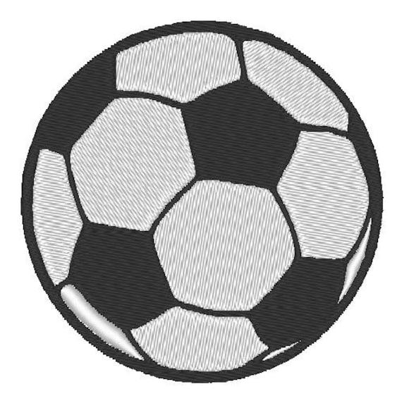Fútbol balón fútbol diseño bordado patrón 4 pulgadas descargar | Etsy