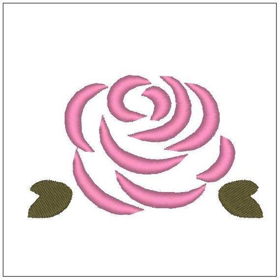 Descarga de 4 pulgadas de patrón bordado rosa para el bordado | Etsy