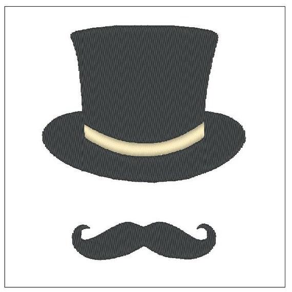 Patrón de bordado de sombrero bigote descargar bordado de | Etsy