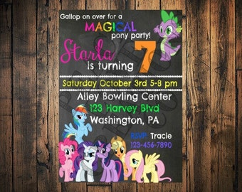 PRINTABLE My Little Pony Birthday Invitation