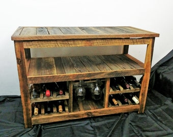 Wine rack table Small Rustic Tv Stand Or Sofa Table Entertainment Center Rustic Wood Furniture Farmhouse Furniture Wine Racks Reclaimed Wood Console Table Choice Furniture Superstore Table Wine Rack Etsy
