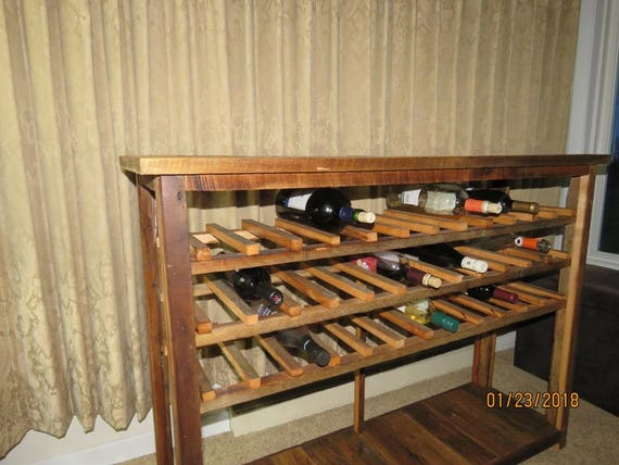 wine bottle storage furniture. Wine Rack, Sofa Table, Console Table, Farmhouse Furniture, Rustic Barn  Wood, Living Room Storage, Display Bottle Storage Wine Bottle Storage Furniture