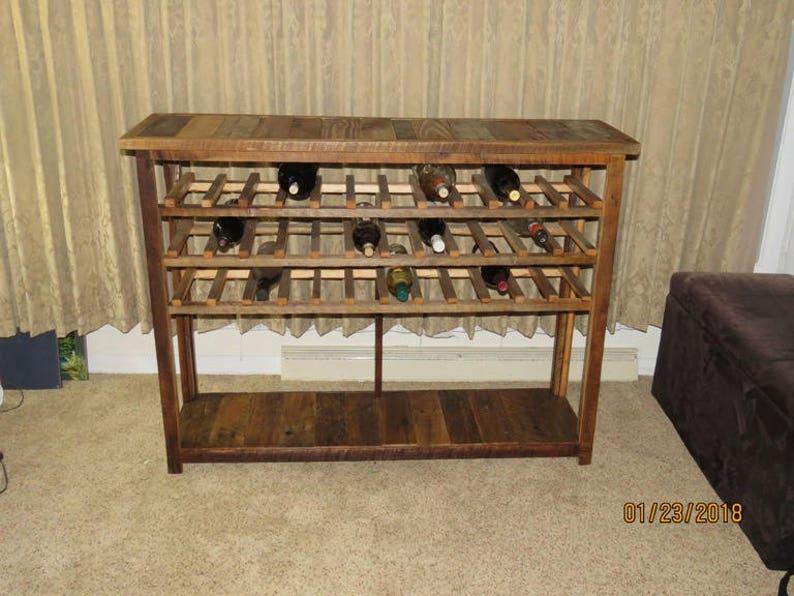 Wine Rack Sofa Table Console Table Farmhouse Furniture Etsy