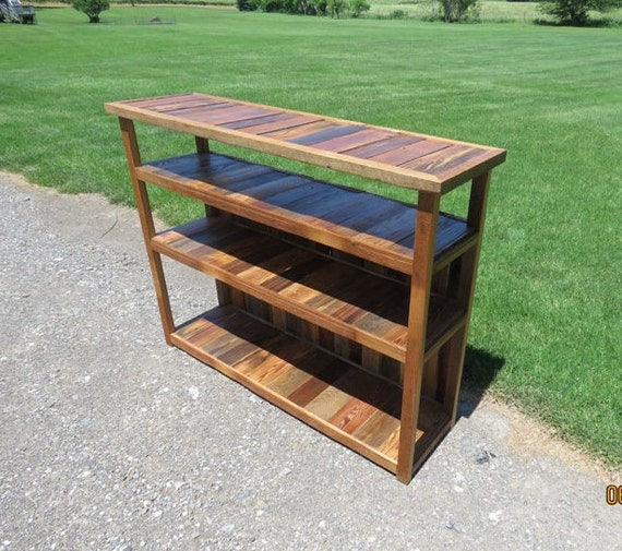 Rustic Entertainment Center, Sofa Table, Barn Wood Storage, Bookshelf,  Entryway Table, Distressed Wood, Rustic Furniture Media Center