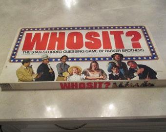 Whosit Board Game 1977