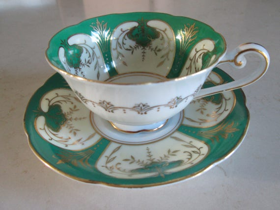 Castle China Tea Cup and Saucer Made in Occupied Japan