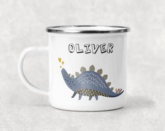 6b742d822f1 dinosaur mug, stegosaurus mug, kid's mug, children's mug, personalised  kid's mug, custom kids mug, hot chocolate mug, gift for boys, mug