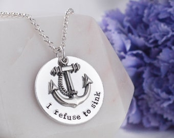I refuse to sink necklace 924a0a936304c