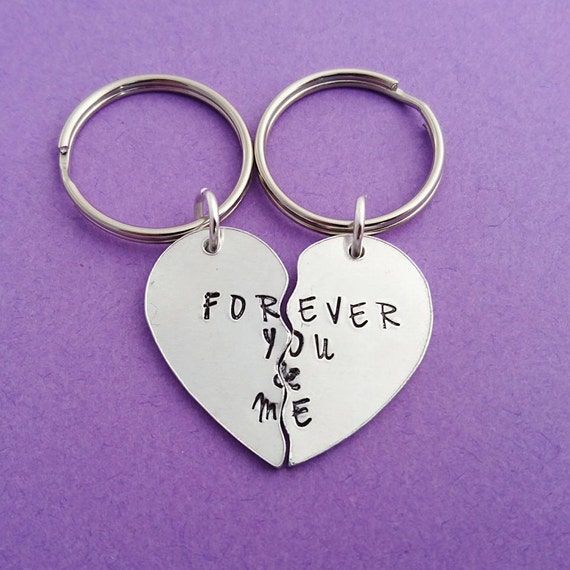 Forever You And Me Together Forever Hand Stamped Split Etsy