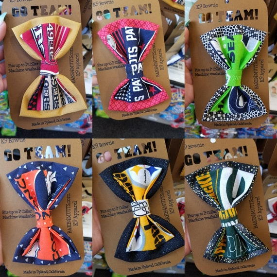NFL / MLB team Bowtie for Dogs