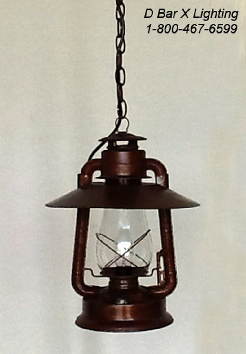 Dx736 15 rustic lantern pendant light fixture