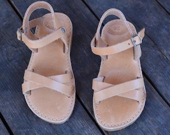 3206c4fbefd Kid's Greek Sandals, Children Leather Sandals, Girls shoes, Baby flats,  Handmade Greek Children Sandals, leather sandals for kids ''Clio''