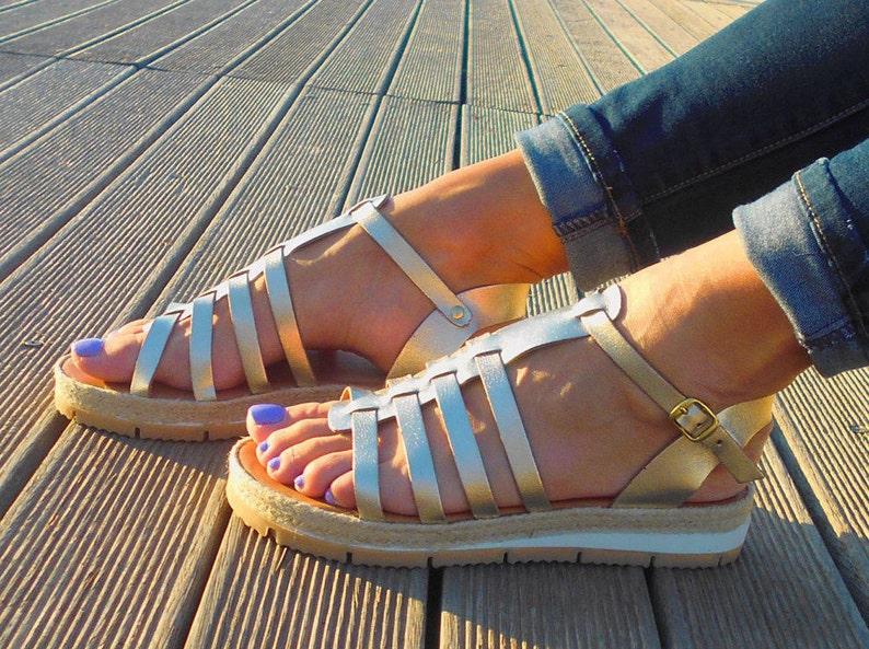 6b0bc7d22611 Leather sandals Gladiator sandals Greek Sandals Gold