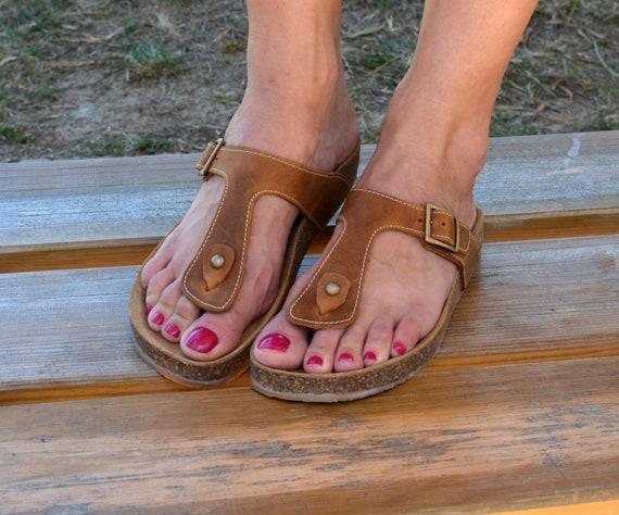semelle sandales String Li Sandales marron tq068
