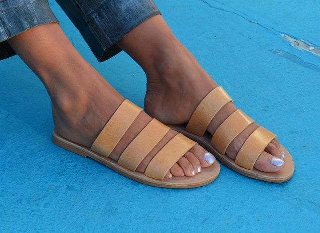 a6b6e6979c07 Greek Leather Sandals