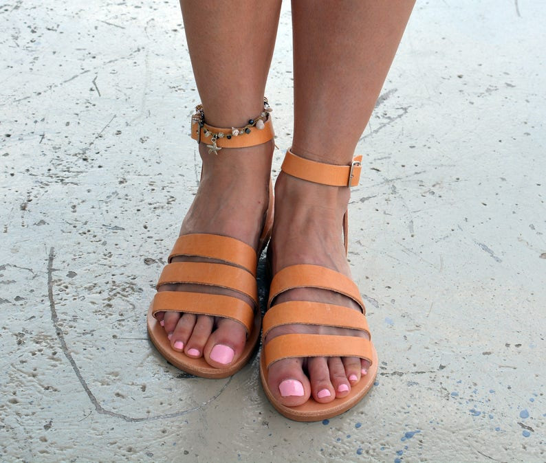 b243b3626 Greek Sandals Leather sandals Ankle strap sandals Greek