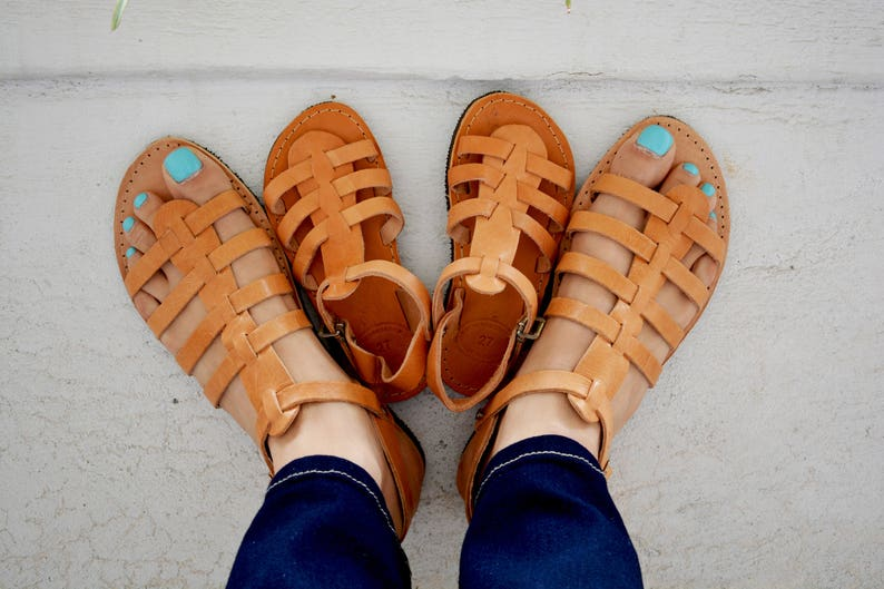 Matching Sandals Mommy and Me Gladiator Sandals Greek Sandals Set of Two Pairs Unisex Kid/'s Sandals