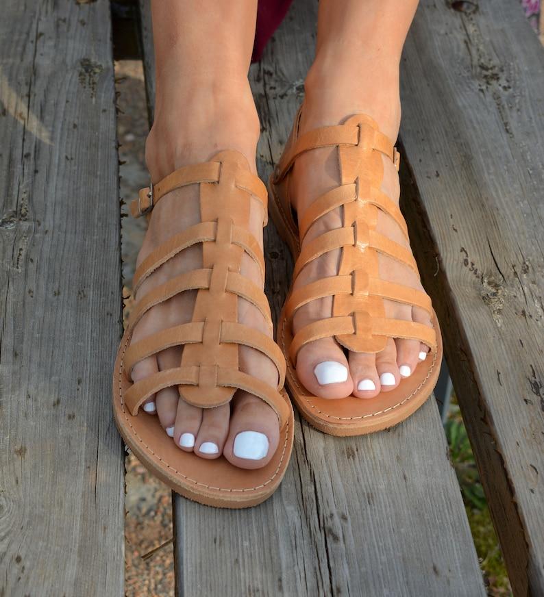 b210261c84831a Leather Gladiator Sandals Greek sandals Spartan Sandals